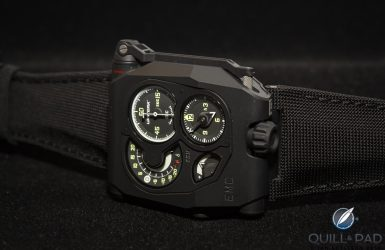 Back In Black: First Live Photos Of The 'Smart' Urwerk EMC Black   Quill & Pad